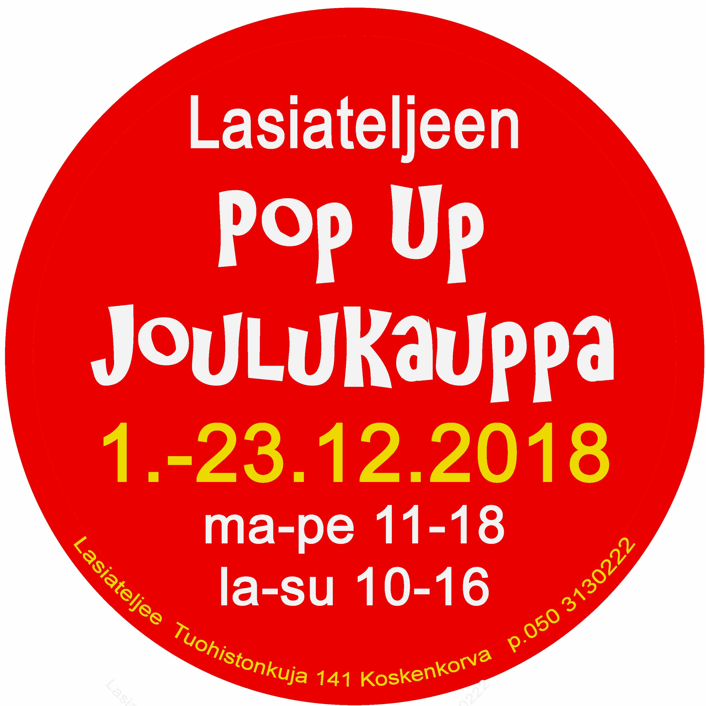 Pop Up Joulu juliste 2018 copy